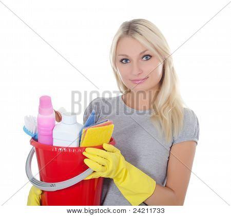 Retrato da menina - conceito de limpeza