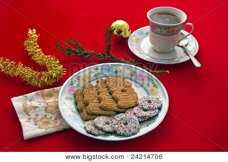 Tea And Christmas Biscuits