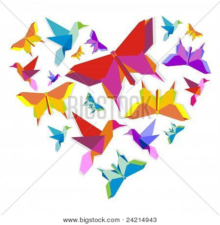 Spring Origami Butterfly Love