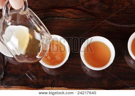 Teapot, Cups And Tea