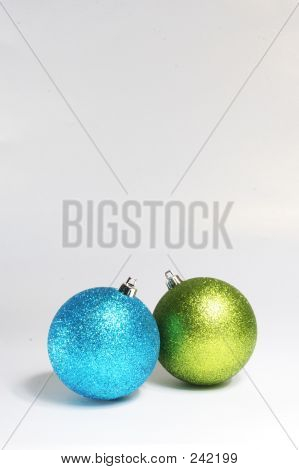 Blue And Green Baubles