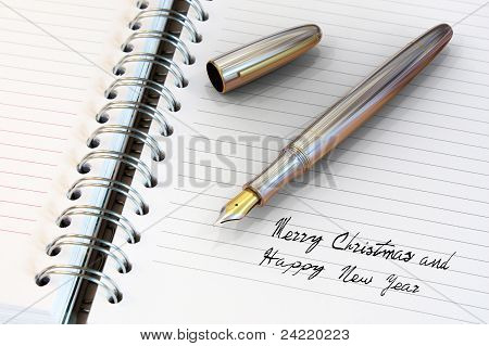 Fountain Pen Written Happy New Year
