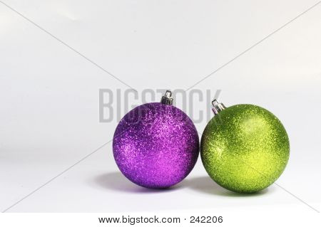 Purple And Green Baubles