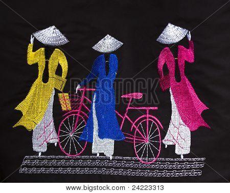 Ao Dai vietnamitas vestido para las mujeres