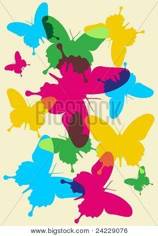 Schmetterlinge Frühlings-Muster