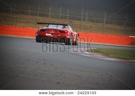 Ferrari GT car on the track at Silverstone