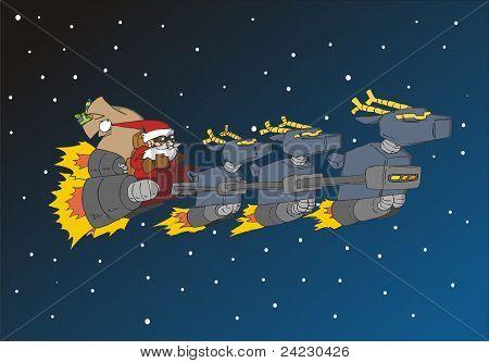 Christmas Series: Santa In His Deer Sled