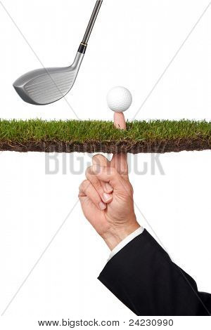 conceptual business image of taking a risk or many other concepts