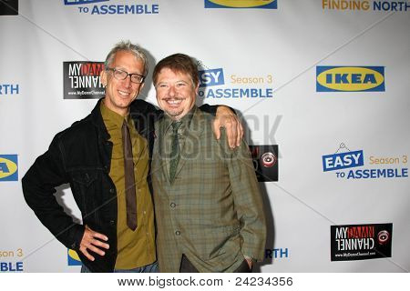 LOS ANGELES - OCT 10:  Andy Dick, Dave Foley arriving at the Web-series