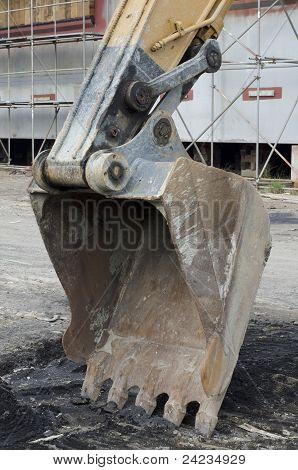 A bucket of excavator