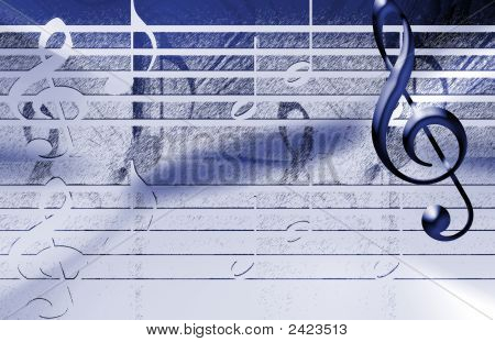 Musical Background, Blue Color