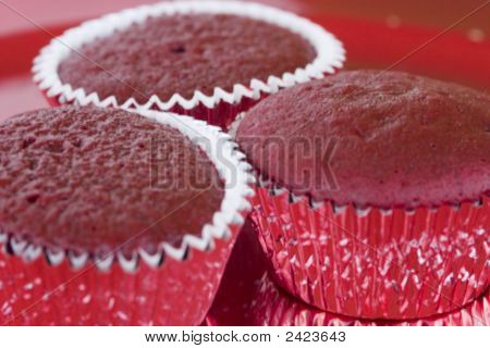 Three Cranberry Cupcakes