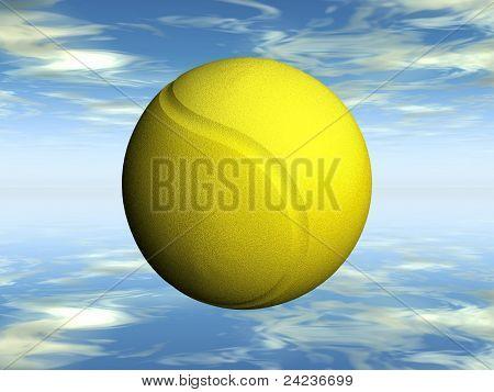 the yellow tennis ball