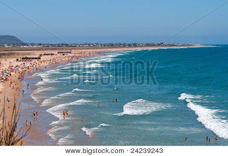 Beach under a blue sky, Spain