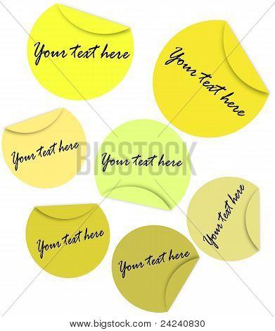 Pegatinas amarillas