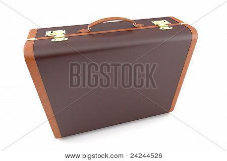 Vintage dark suitcase