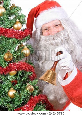 Santa Claus with bell
