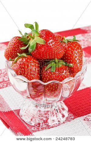 Ripe fresh strawberry