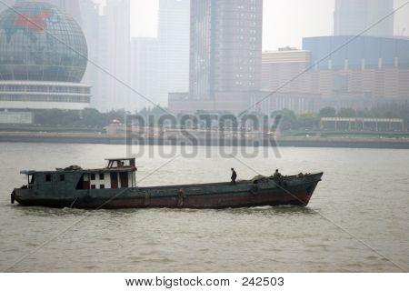 Chinese Cargo Boat