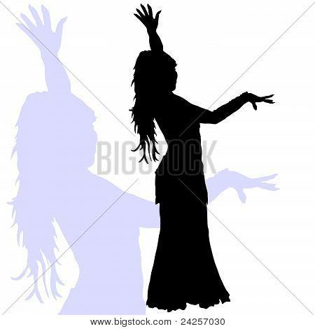 Flamenco Dance Woman Silhouette