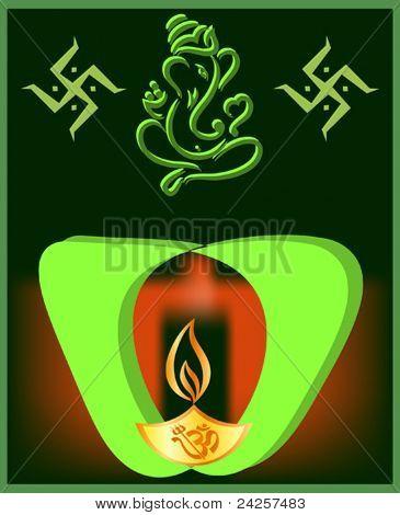 Ganpati Diwali Card