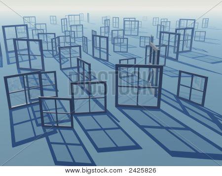 Windows Of Business Views Horizon Background