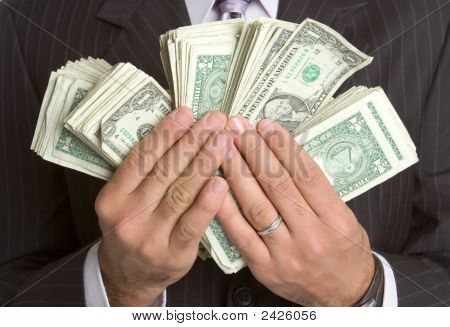 Hands Holding Money