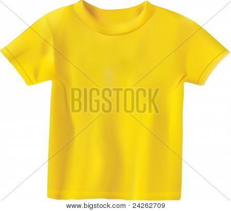 yellow T-shirt design template