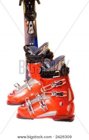 Botas de esqui de montanha moderno