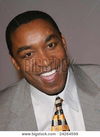 LOS ANGELES - FEB 12: Isiah Thomas at the 'A Tribute to Magic Johnson - The official tip-off to NBA All-Star 2004 Entertainment' on February 12, 2004 at the Shrine Auditorium, Los Angeles, California
