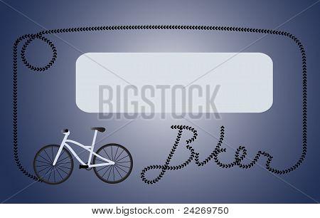 Biker dark blue frame