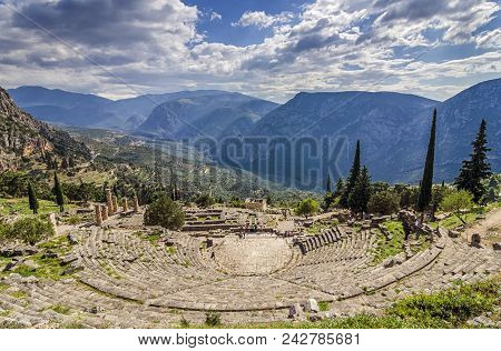 Delphi Phocis Greece Ancient Theater