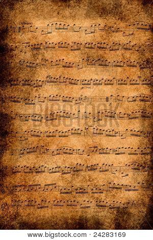 Papel de música antiga