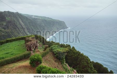 Coastal Scenery At The Azores