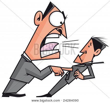 Boss Screaming His Employee