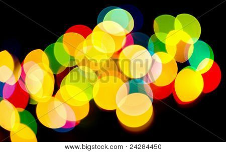 Abstract Background Of Multicolored Holiday Lights