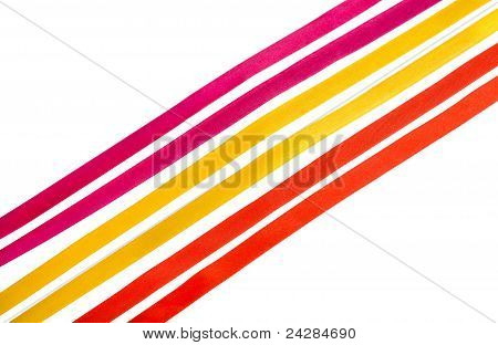 Silk Ribbons Isolated On White