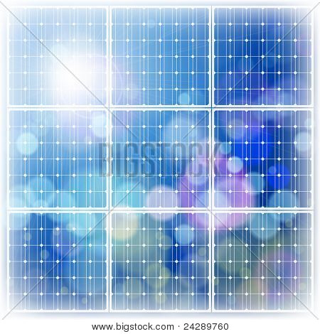 solar power panel & blue sky. Bitmap copy my vector ID 65081116