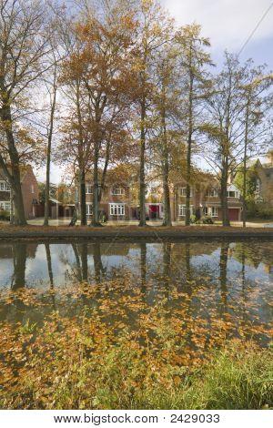 Houses Alongside Canal