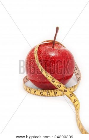 Apple Product For A Healthy Diet. On A White Background.