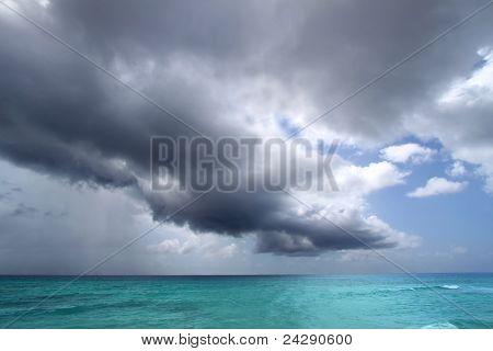 Nuvens de tempestade Atlântica