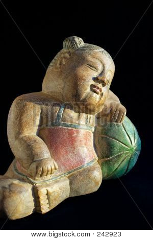 Wooden Souvenir-sleeping Child 2