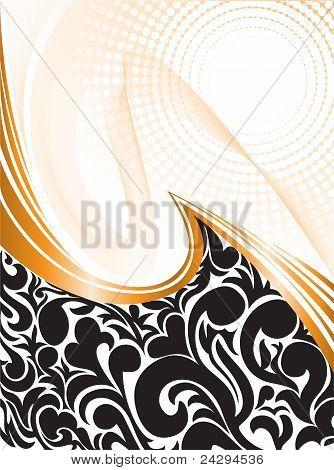 Black Pattern With Waves