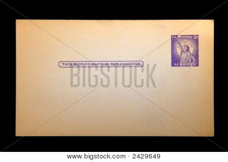 Grungy Vintage Three Cent Postcard