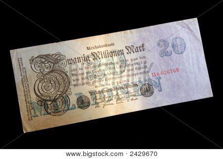 Obsolete Fiat German Bank Note