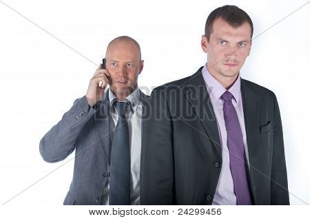 The bodyguard of the businessman