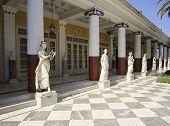 foto of sissi  - Achillion palace statues in Achillion, Corfu Greece  - JPG
