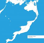 Map Of Acklins Island Island,bahamas, Contains Geography Outlines For Land Mass, Water, Major Roads poster