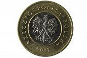 Macro Of Polish 2 Zloty Coin poster