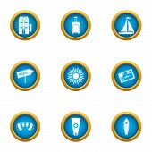 Edge Icons Set. Flat Set Of 9 Edge Vector Icons For Web Isolated On White Background poster